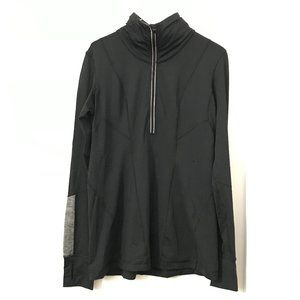 Lululemon Black and Gray Quarter/Half Zip Sweater